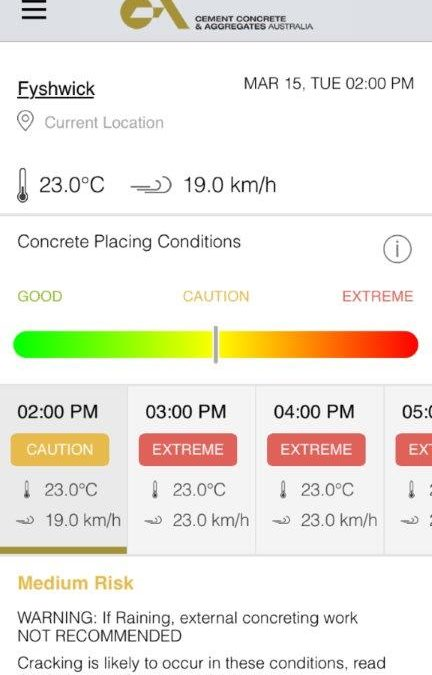 The Smart Concreting App from CCAA