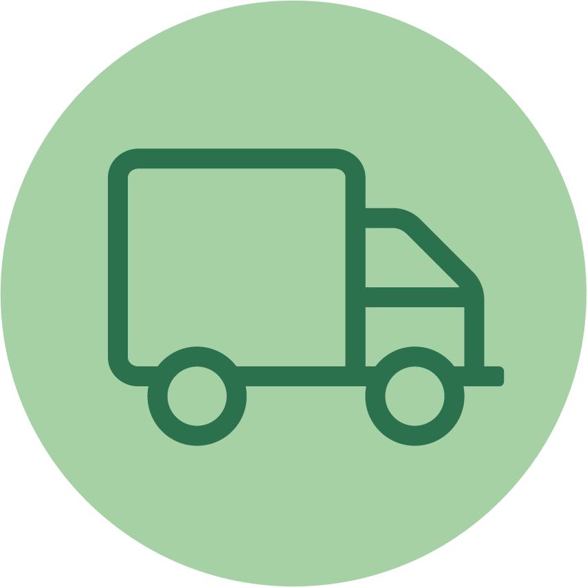 distribution and freight icon